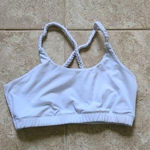 Kiava white battle rope bra medium